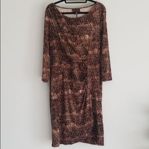 Dana Buchmam Snakeskin Print Wrap Dress Large